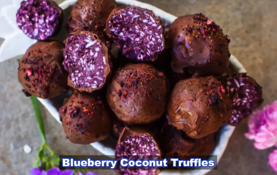 blueberry coconut truffles