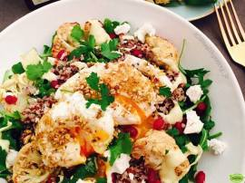 Roast Cauliflower and Dukkah Egg Salad