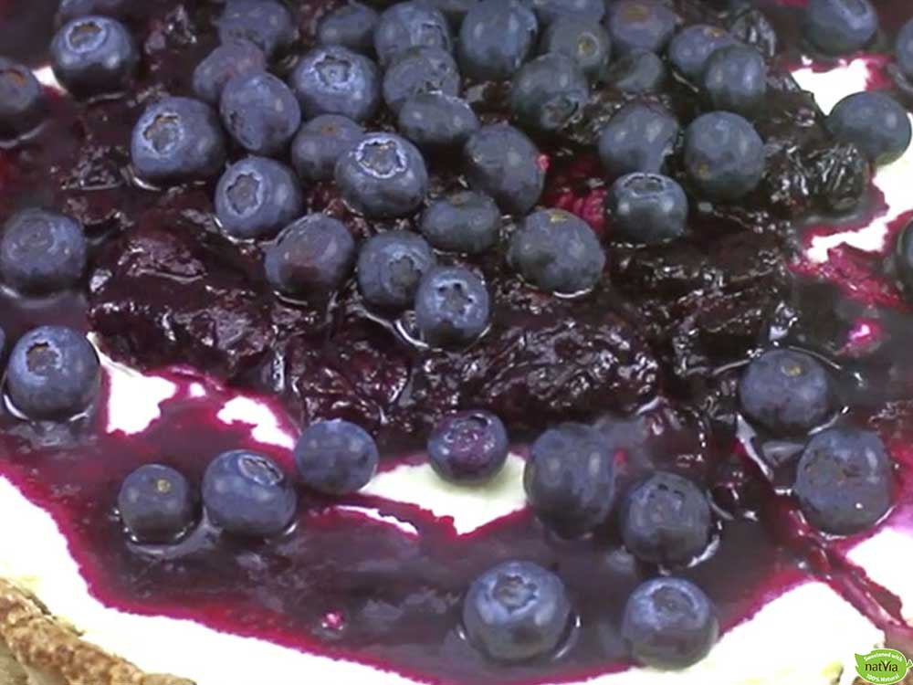 BLUEBERRY TART WITH HAZELNUT PASTRY
