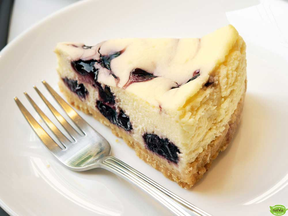 GLUTEN FREE BAKED BLUEBERRY CHEESECAKE