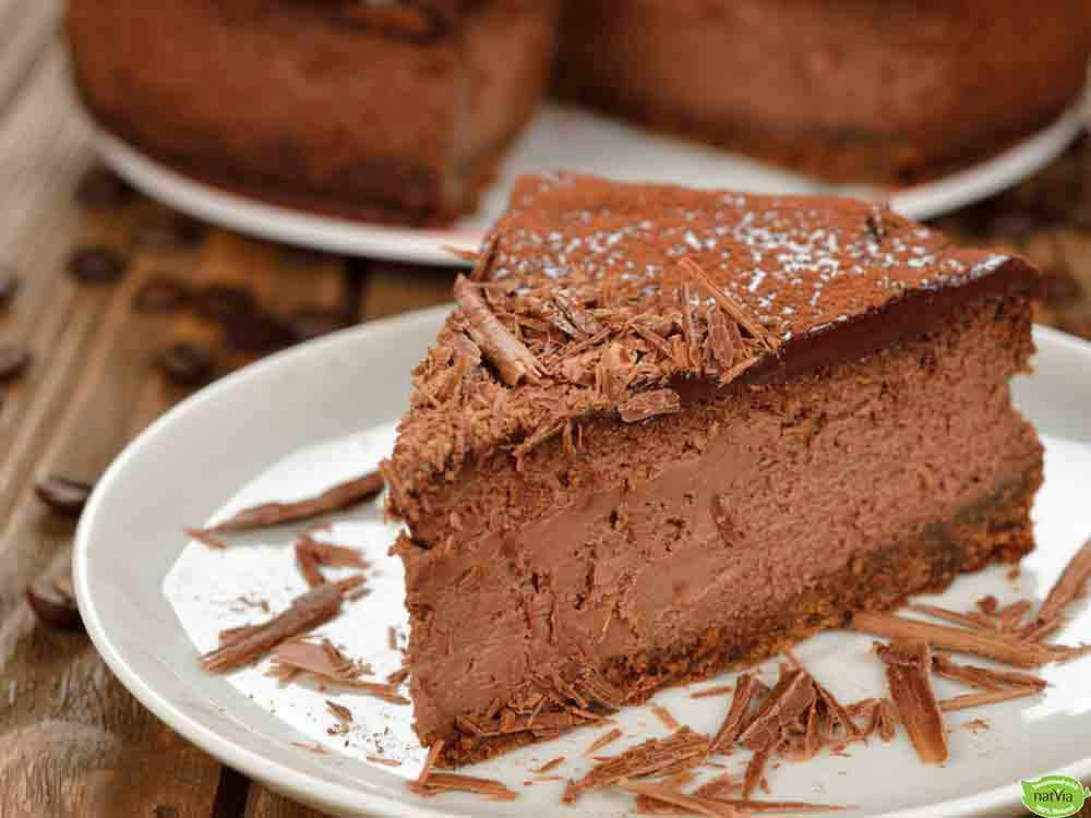GLUTEN FREE BAKED CHOCOLATE CHEESECAKE