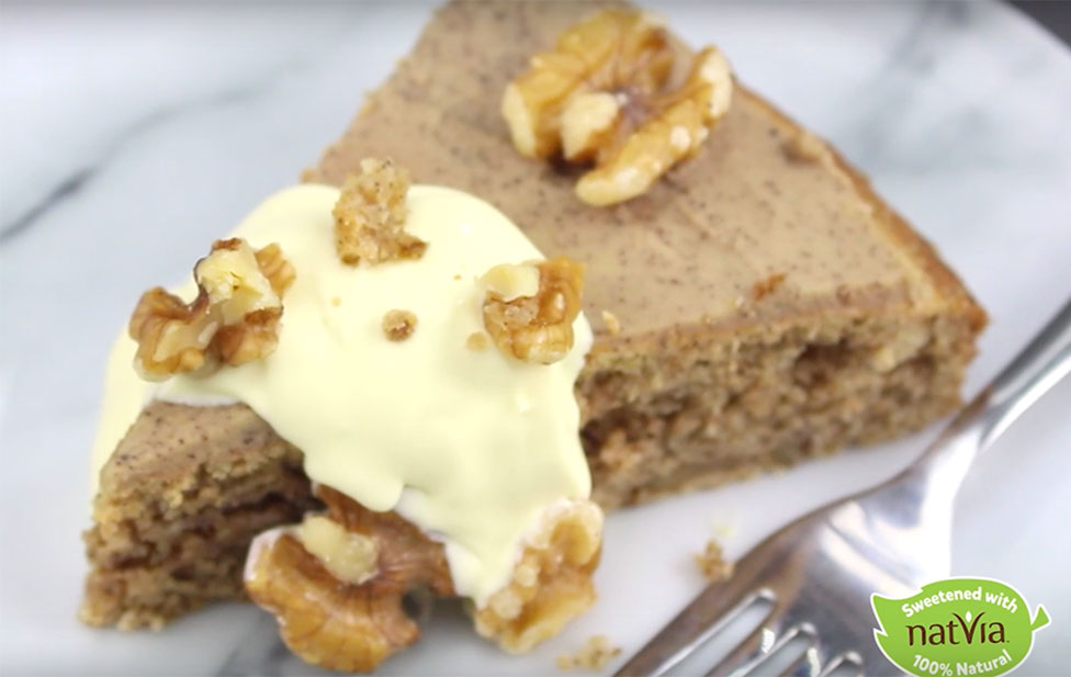 Sugar Free Coffee Amp Walnut Cake Natvia 100 Natural