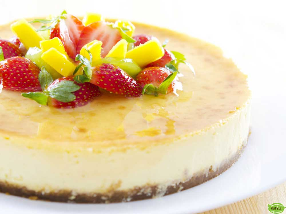 LOW CARB PASSIONFRUIT CHEESECAKE