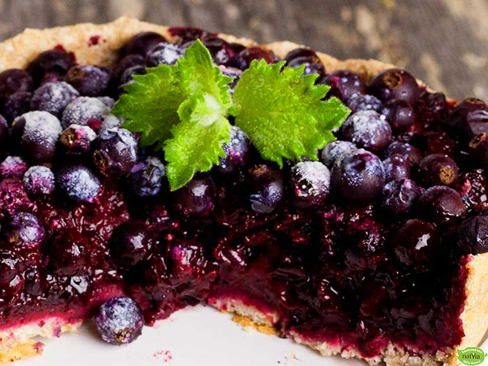 OPEN FACED BLUEBERRY PIE