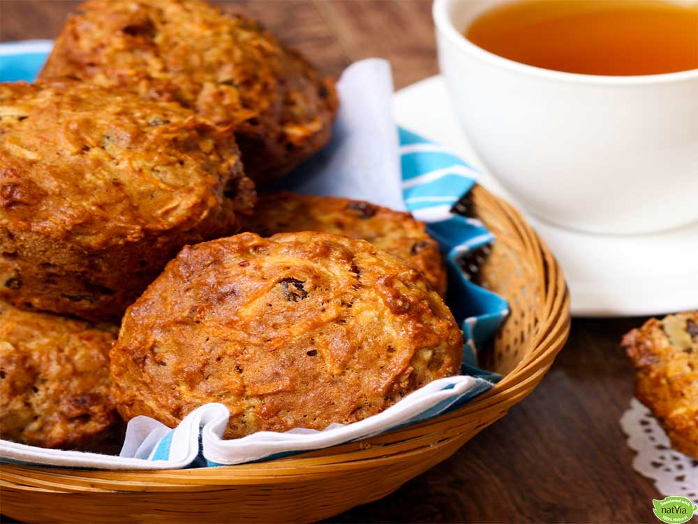 SPICED CARROT, APPLE BREAKFAST MUFFIN