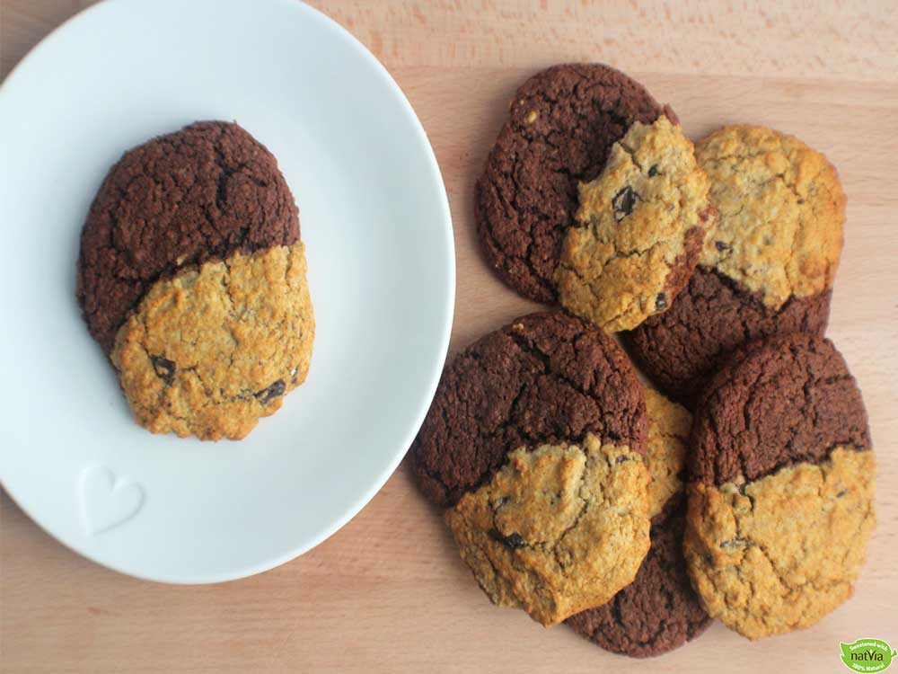 TWO-TONE CHOCOLATE & CHOC CHIP COOKIES
