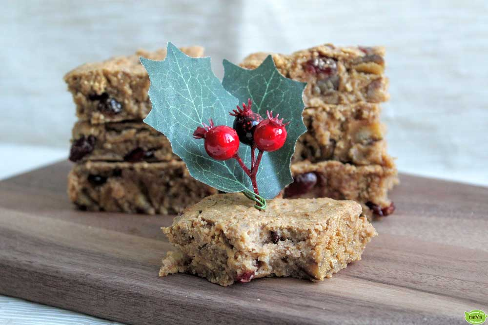 APPLE, CRANBERRY & CHESTNUT SQUARES