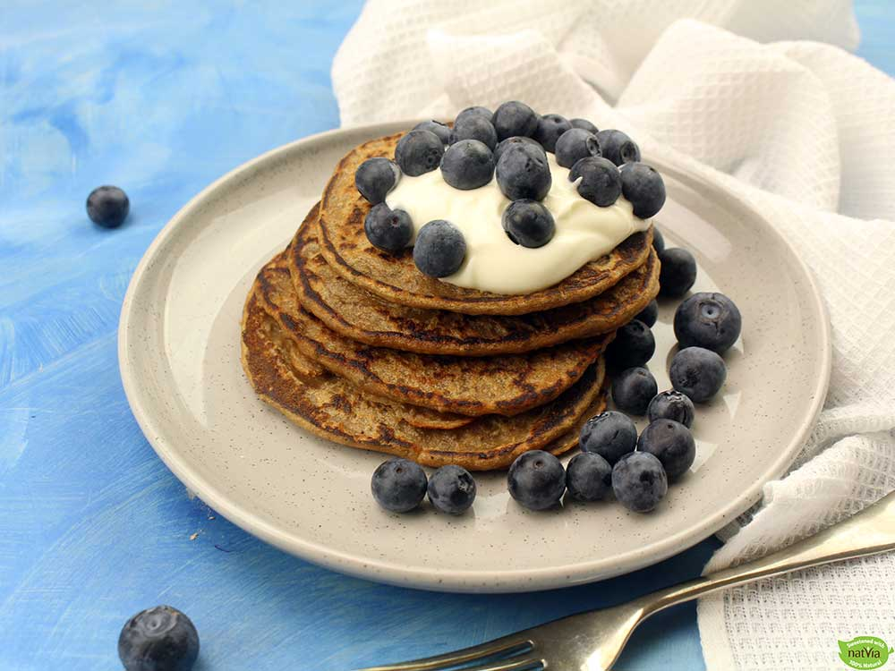 Chia and Coconut Protein Pancakes