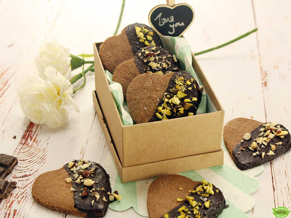 Double Choc Heart Cookies