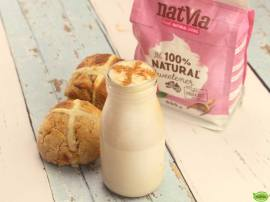 Natvia Coconut Hot Cross Bun Milkshake
