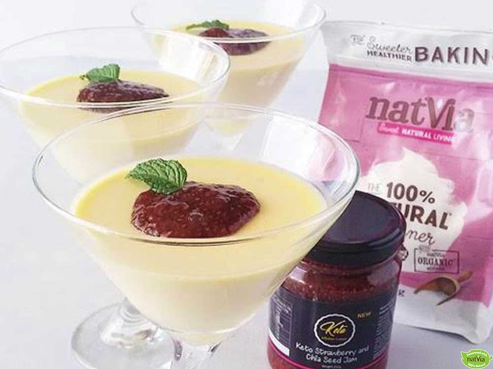 Panna Cotta with Strawberry and Chia Seed Jam