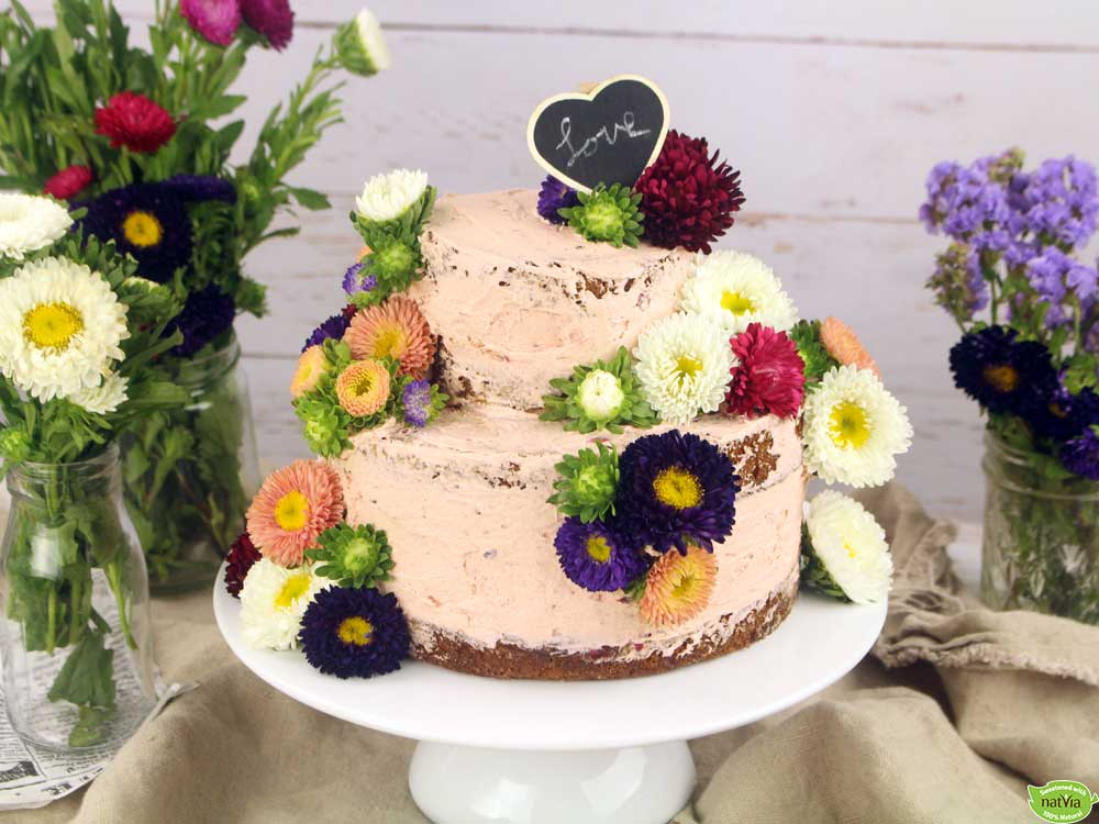 Rustic Blackberry & Vanilla Wedding Cake