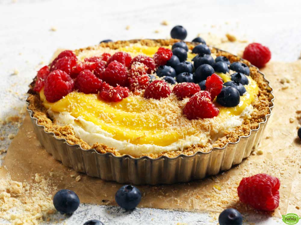 Mango & Berry Cheese Tart