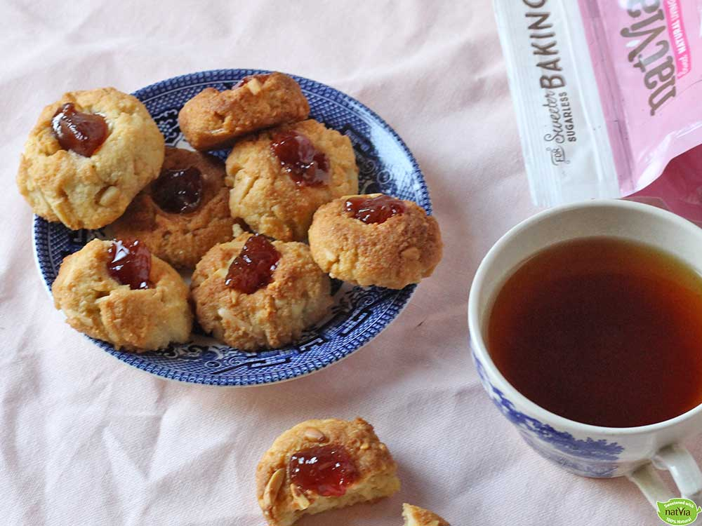Almond-and-Pine-nut-Jam-Drops