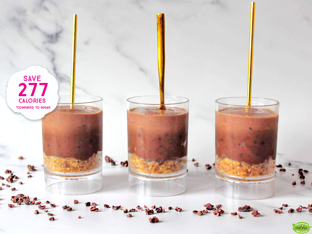 TWO-TONE CHOCOLATE CHEESECAKE POTS
