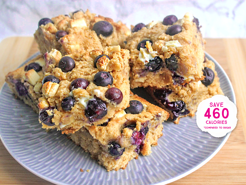 BLUEBERRY, WHITE CHOCOLATE & CASHEW BLONDIES