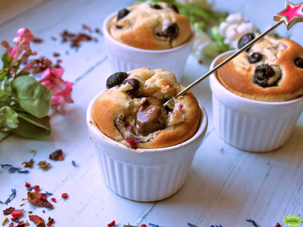 Blueberry-&-Chocolate-Puddings